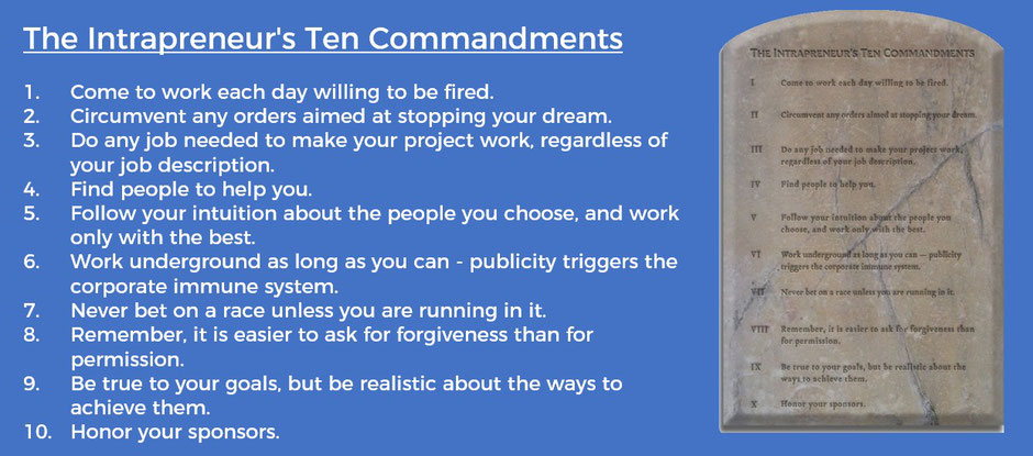 The Intrapreneur's Ten Commandments