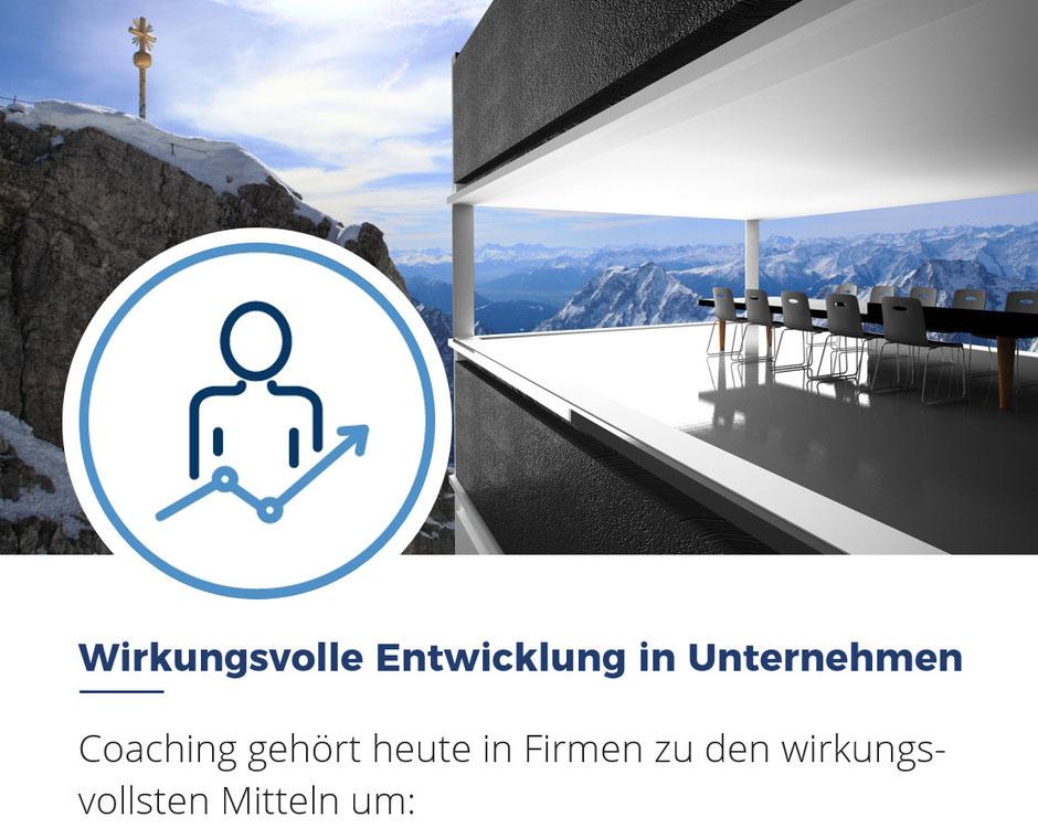 Flyer Nr. 1 Coaching als wirkungsvolles Mittel für die Entwicklung in Unternehmen