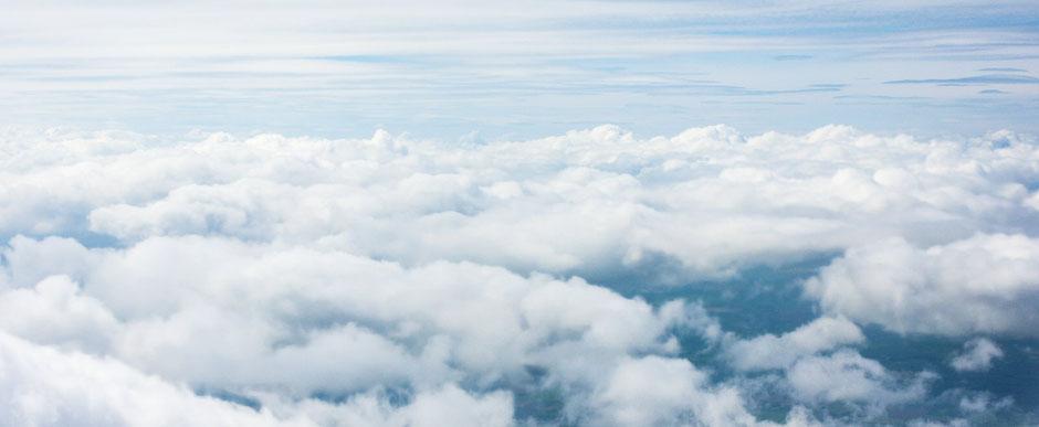 Wolken als Symbol für den Atem