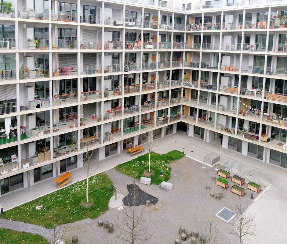 Ausblick 2 aus meinem Büro - Wohntrakt des Kulturparkes