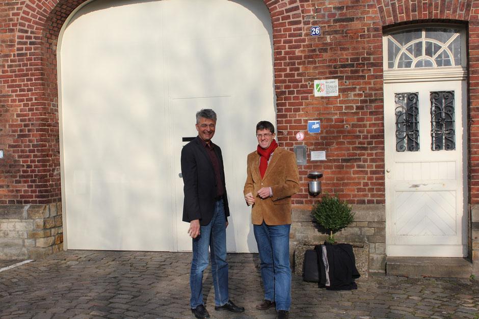 Thomas Marquardt absolviert ein Tagespraktikum in der Justizvollzugsanstalt Münster in der Gartenstraße