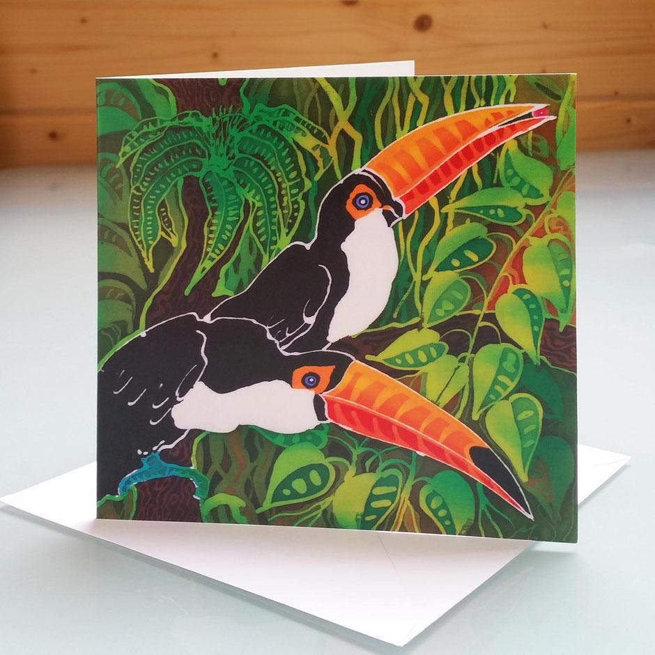 exotic bird art cards