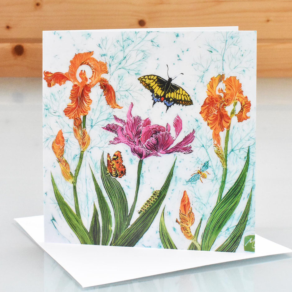 Swallowtail & Sultans Palace iris art card