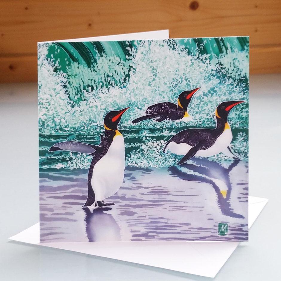 Emperor Penguin art card