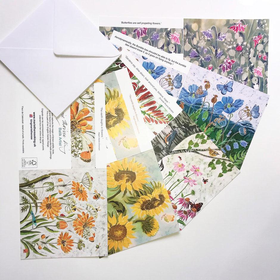 Floral designs art card greeting multipack