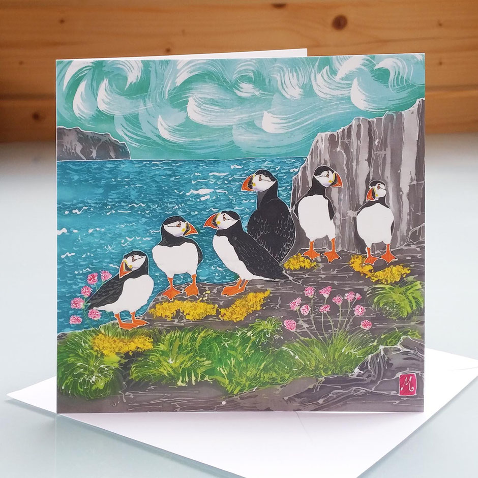 puffin art cards
