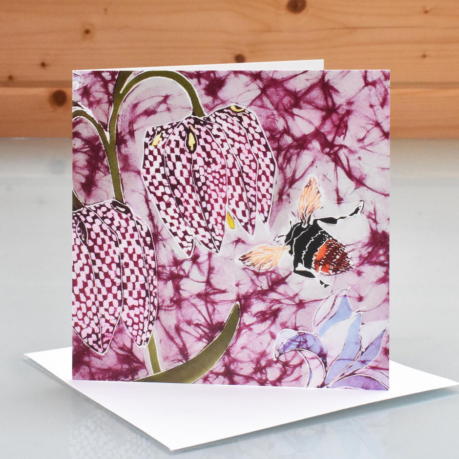 Snakeshead Fritillary art card