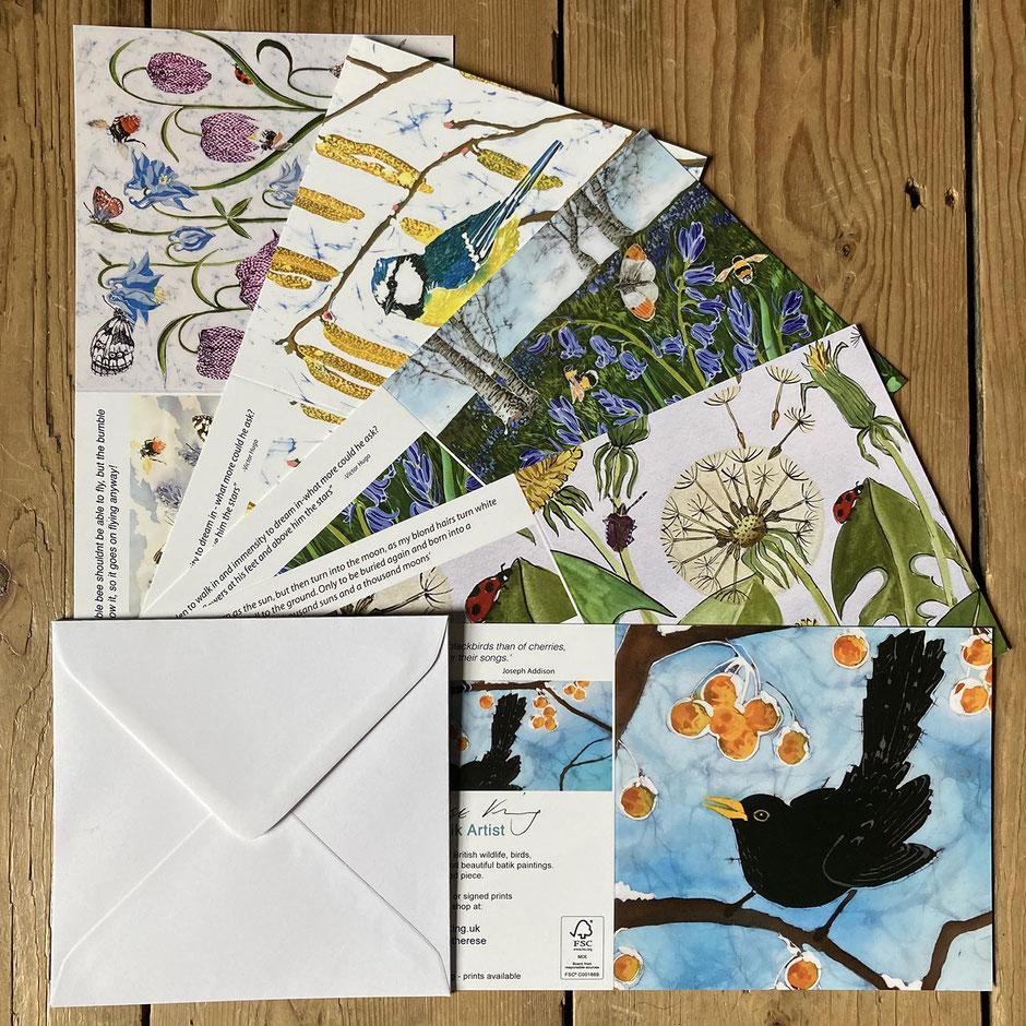 spring garden art cards