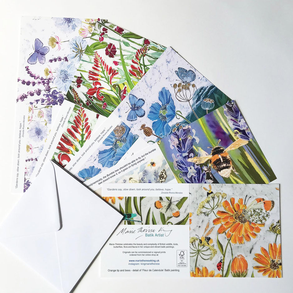 Detailed floral art card greeting multipack