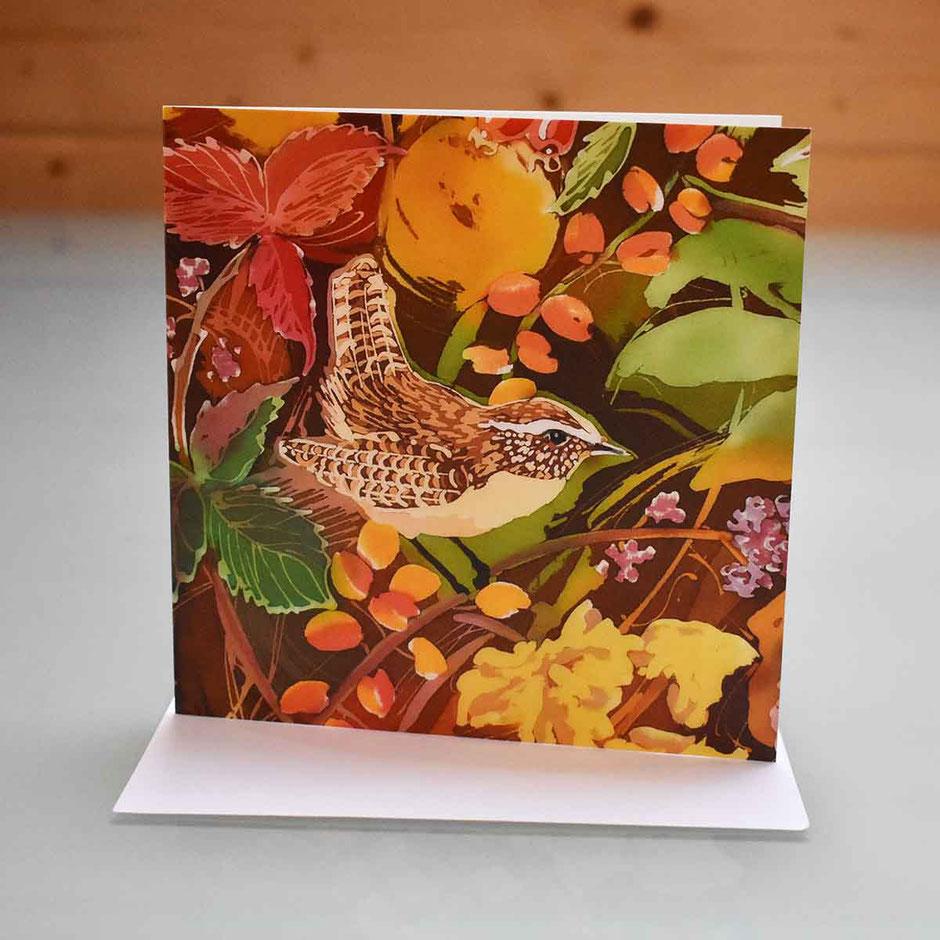 garden bird art cards