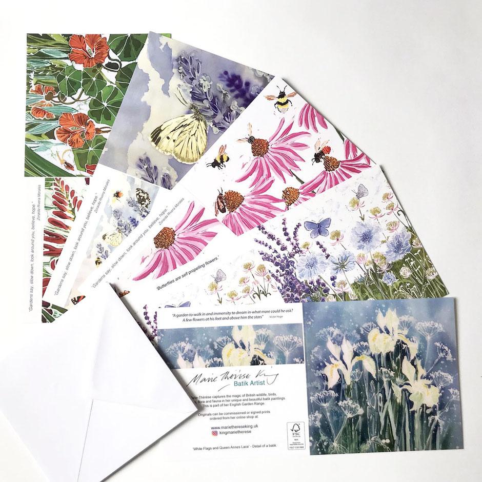 Echinacea art card greeting multipack