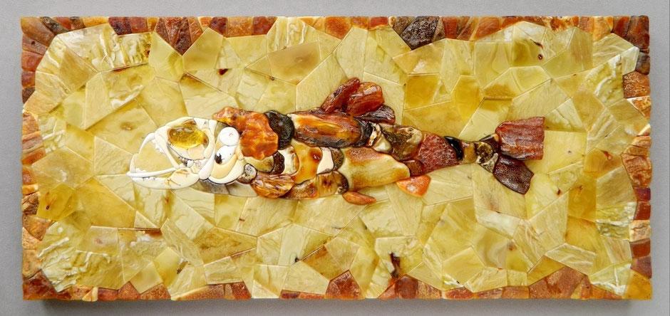 Материалы: натуральный балтийский янтарь природных оттенков