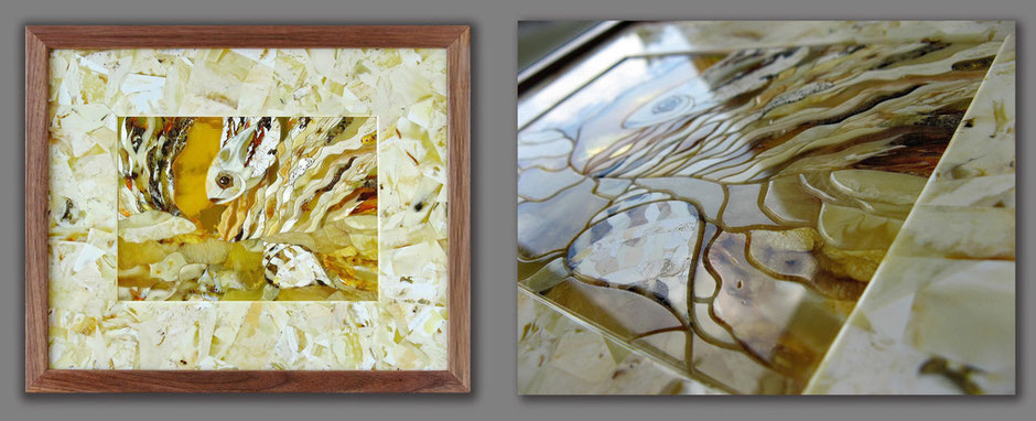 уникальное панно музей Мирового Океана янтарь Россия мозаика лучшее натуральный Калининград мастерская мастер