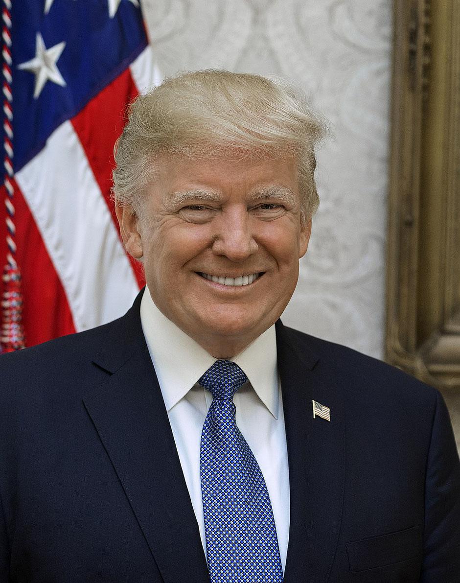 US Präsident Donald Trump | Quelle: Shealah Craighead [Public domain]