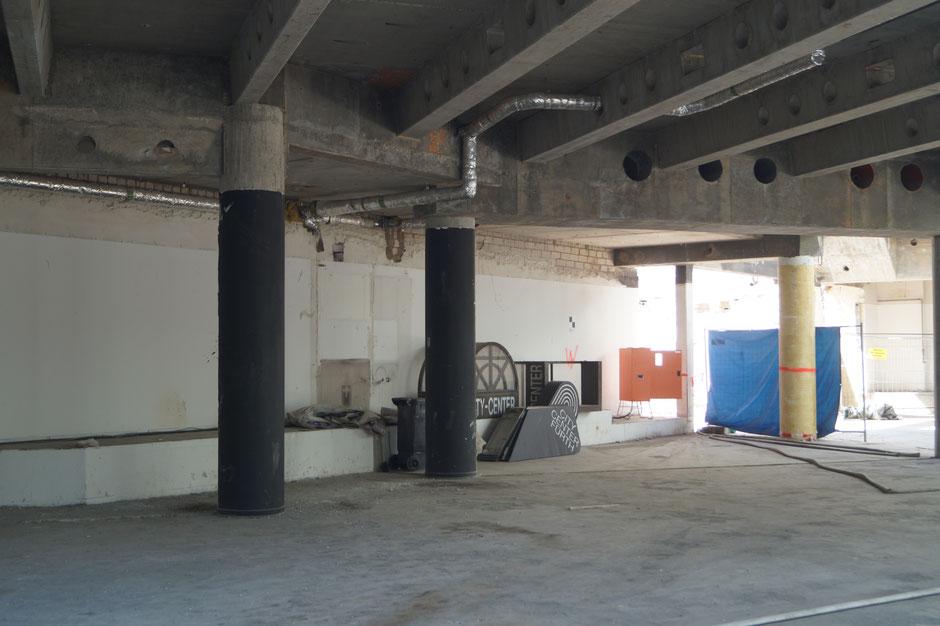 Foto des City Centers mit ehemaligen Eingangsschildern