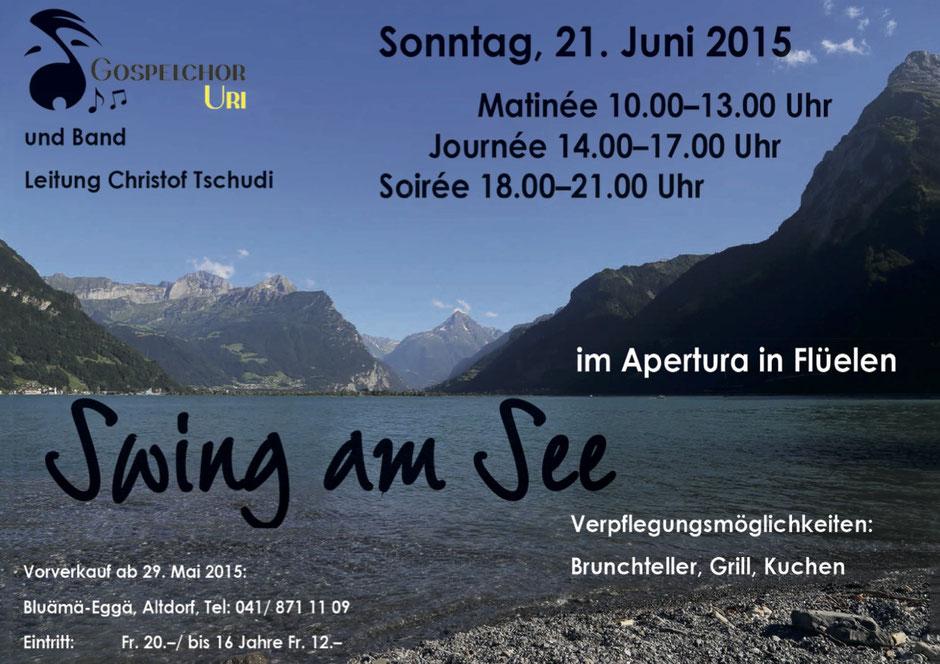 Der Flyer für Swing am See