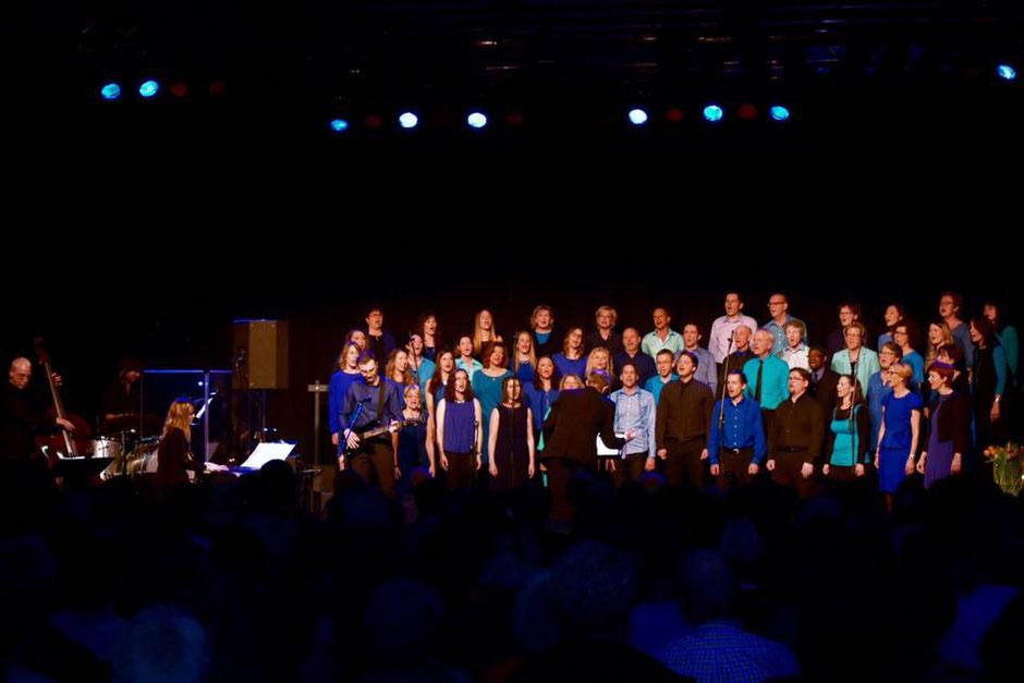 Der Chor Zug am 28.01.17 in der Chollerhalle Zug.