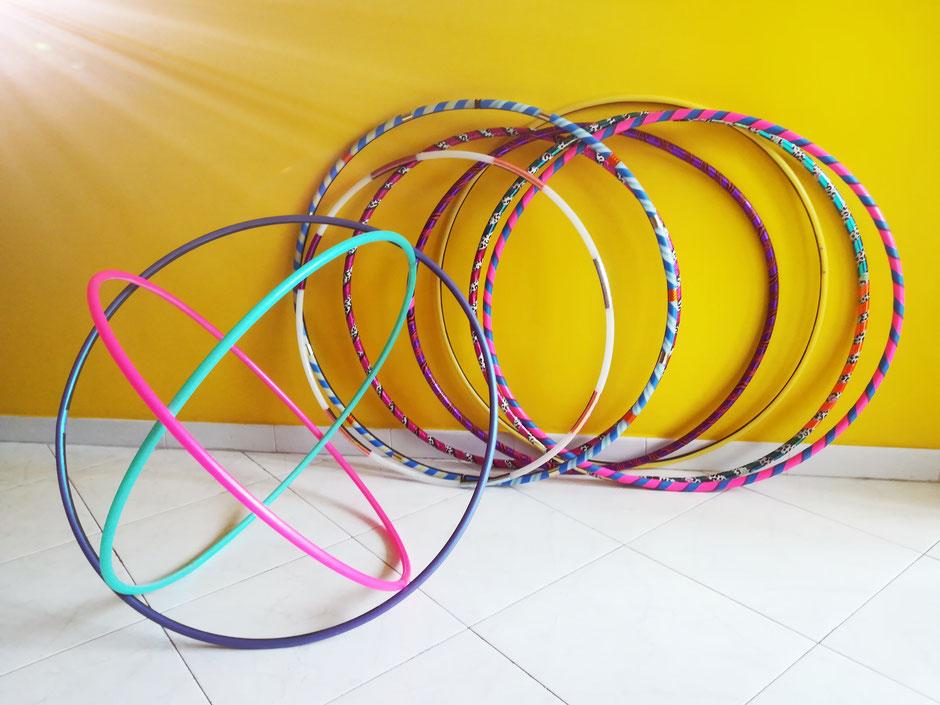 Hula hoops handmade by Ka Whoops