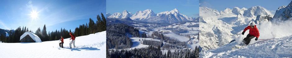 Skitouren und Schneeschuhtouren vom Grüblerhof