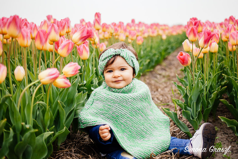 baby poncho flower fields