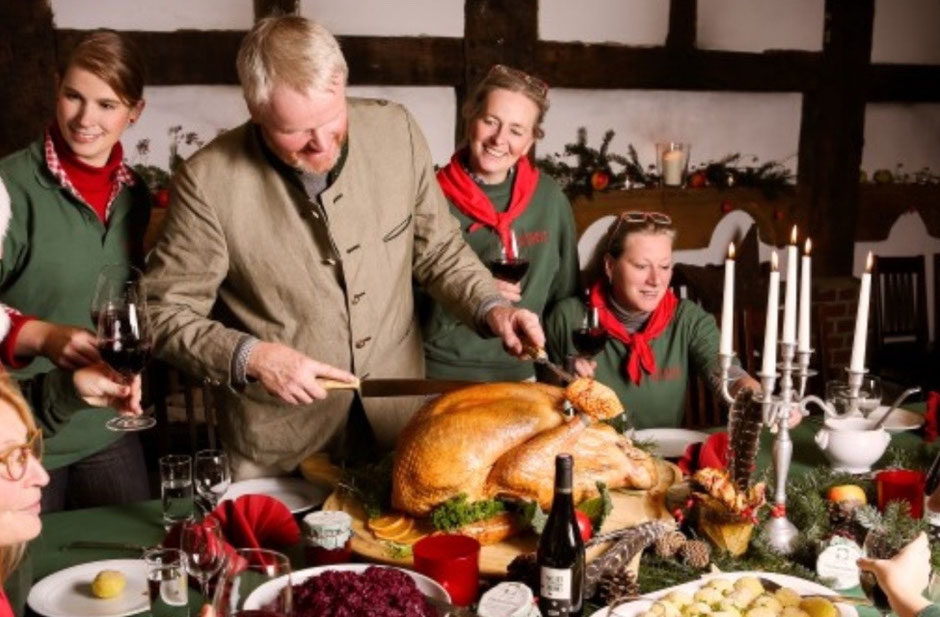 Weihnachts-Pute vom Freilandhof - Fleischerei Eckart Köln turkey Truthan Truthahnessen