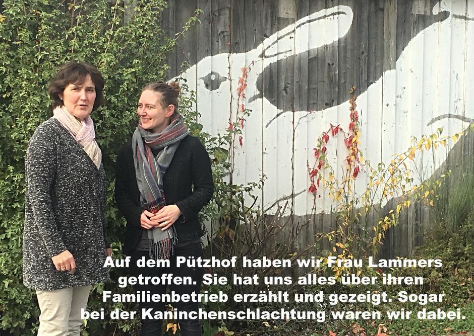 Sabine Eckart von der Fleischerei Eckart Köln trifft Frau Lammers von Lapinchen Lammour Pützhof in der Eifel