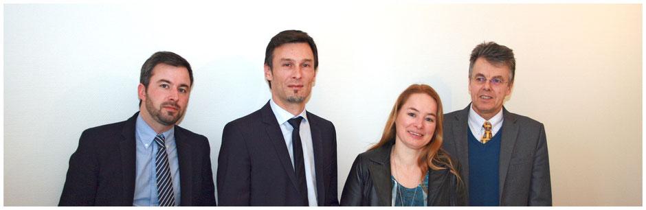 L'équipe de G&P Conseils - Fabrice Girodolle, Vincent Parret, Karine Auriac, Philippe Delort