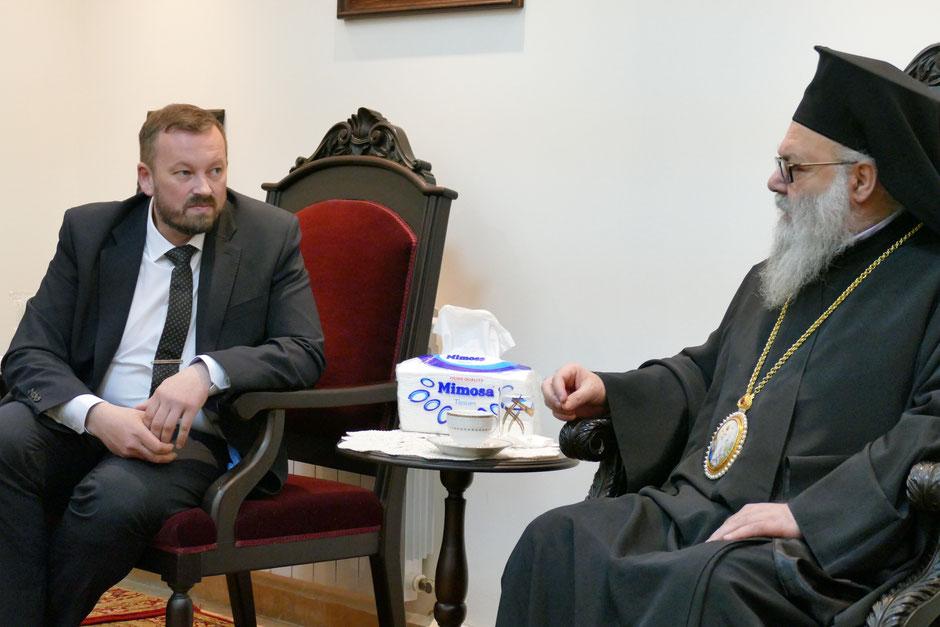 Встреча главы NGO Public Advocacy Денисова О.С. с патриархом Антиохийским и всего Востока Иоанном X, 2019 г.