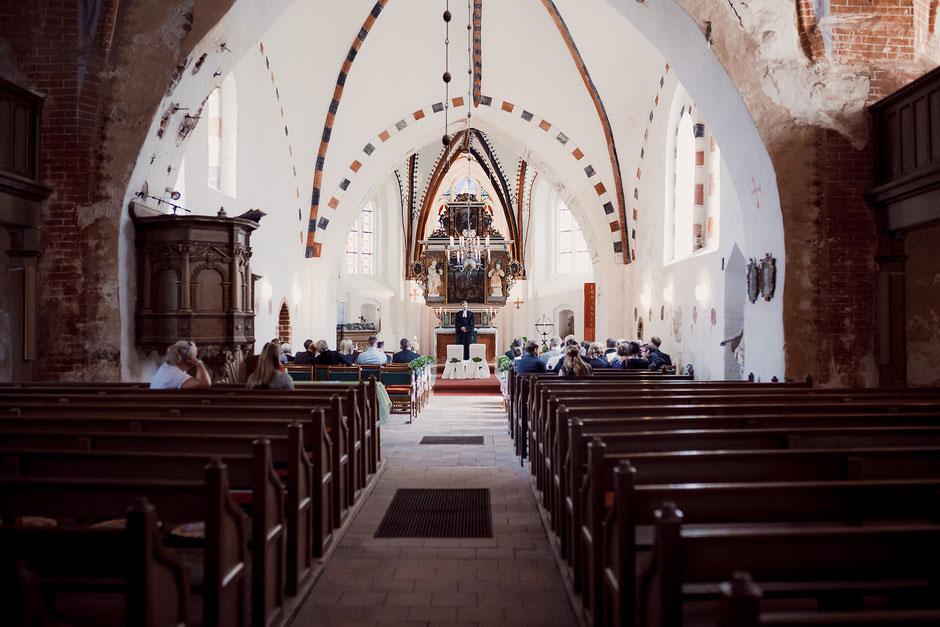 Kirche Wusterhusen in Mecklemburg-Vorpommern von innen