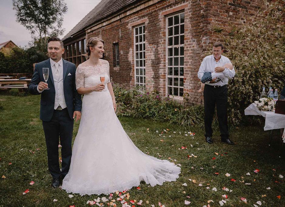 Brautpaar Haus am Bauernsee