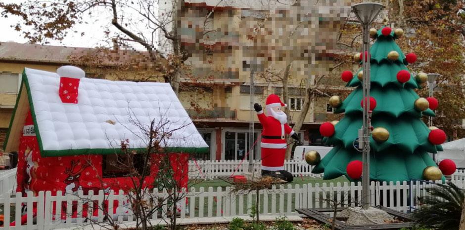 Villaggio Di Babbo Natale Gonfiabile
