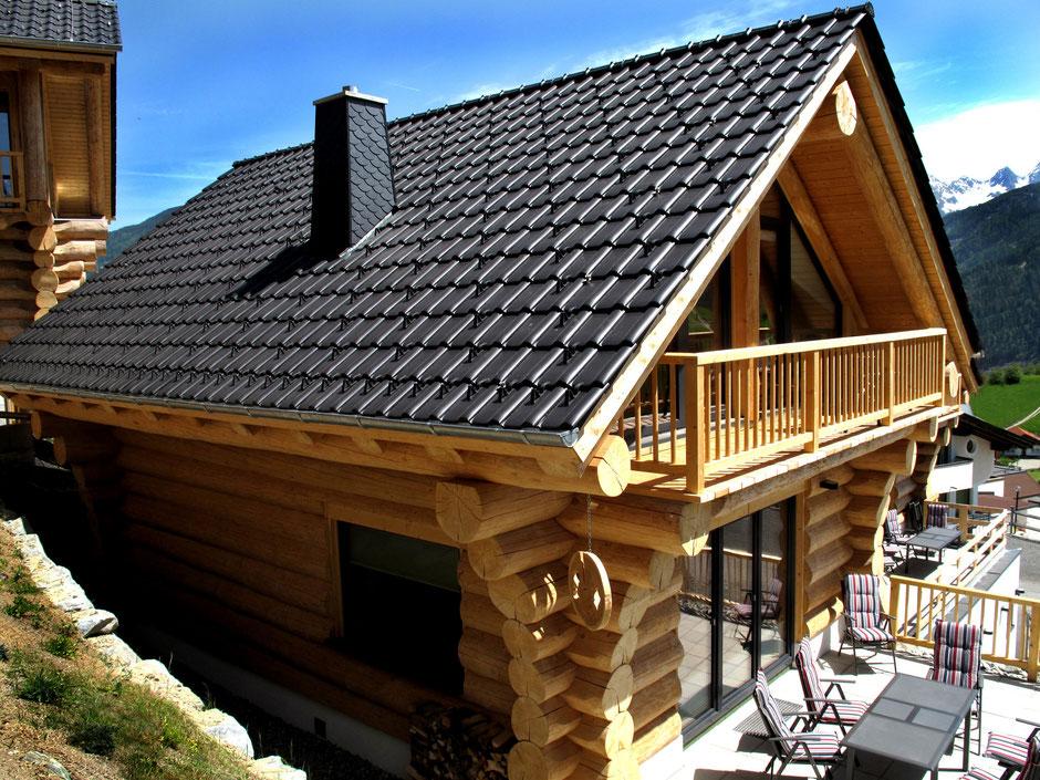 Chalet Frommes mit Terrasse  - Naturstammhaus