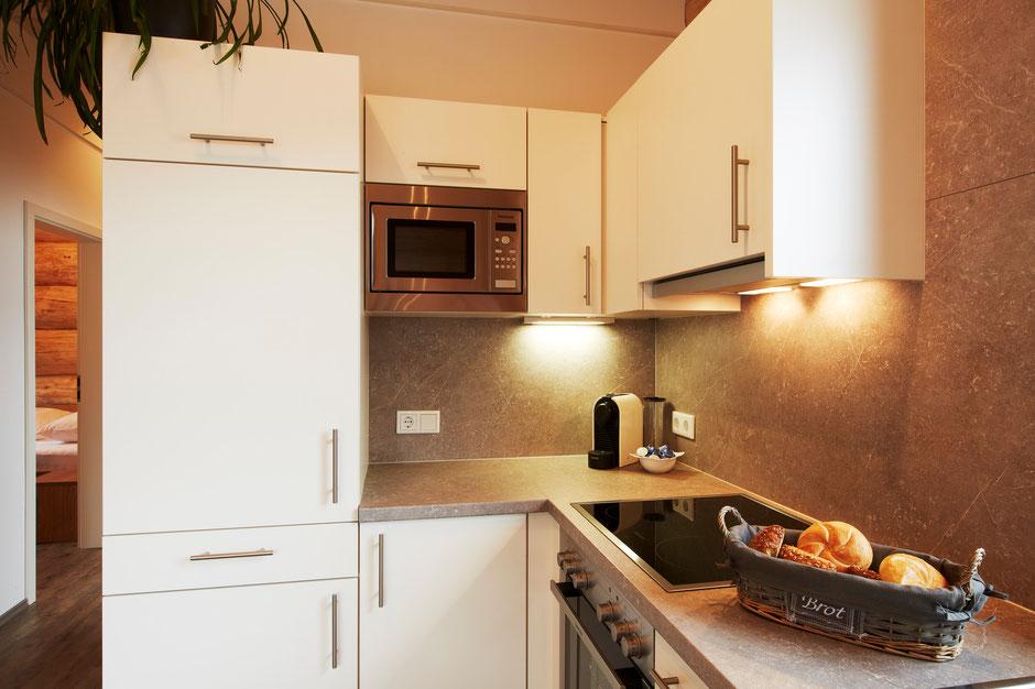 Modern und komplett eingerichtet Küche in jedem Chalet