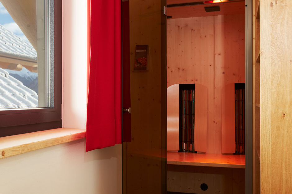 A Physiotherm infrared cabinet with integrated light therapy and relaxing music