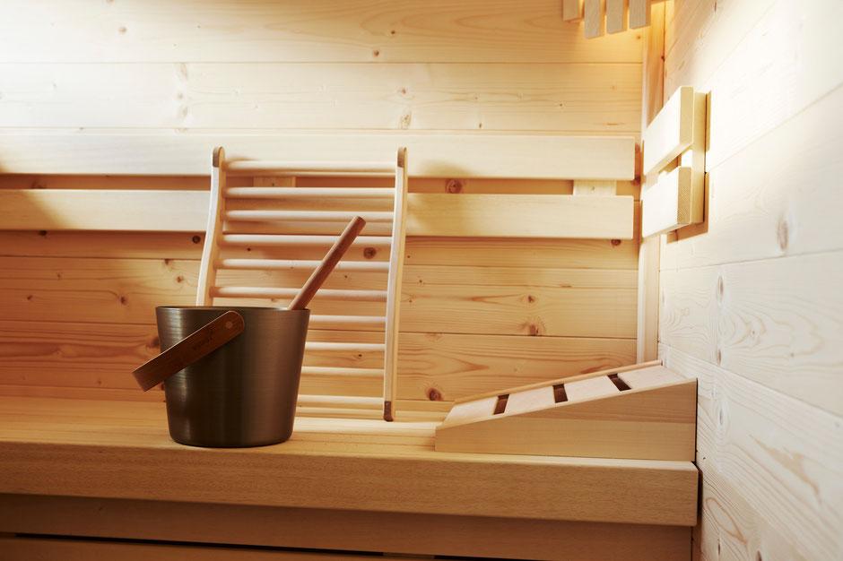 Finnische Sauna und Dampfsauna garantieren Entspannung in jedem Chalet