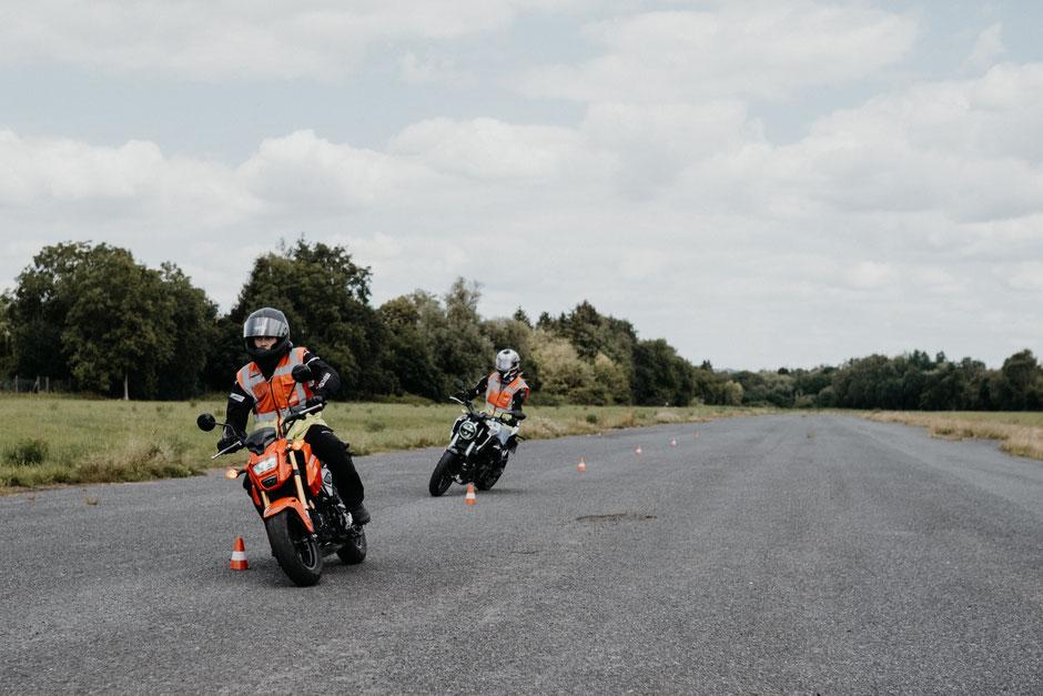 Motorradfahrstunde mit Peter Bieber, Fahrschule Bieber