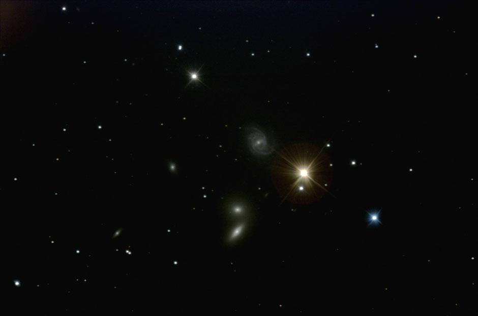 NGC5350 Спиральная галактика с перемычкой