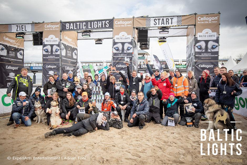 Siegerehrung der BALTIC LIGHTS Musher 2019 mit Spendenübergabe an die Welthungerhilfe.           Foto: Eperiarts Entertainment - Adrian Fohl