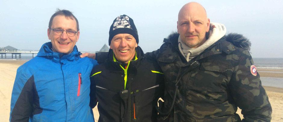 Unser Rennleitungstrio: André Bobek, Maik Müller und Tino Lesser (vlnr)-Foto: ExperiArts Entertainment