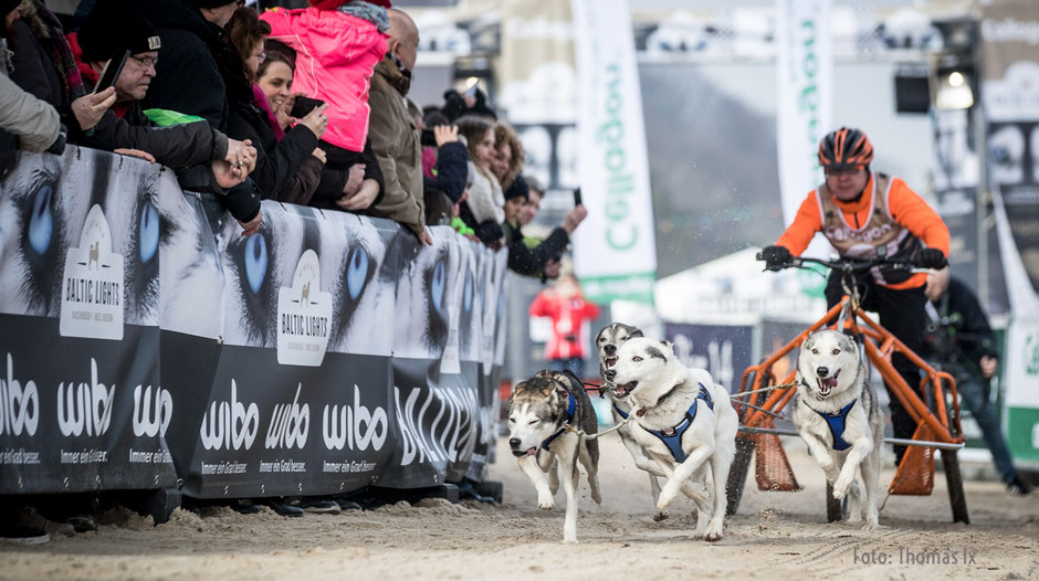 Musher Stefan Finzel mit der Startnummer 1 eröffnete das Baltic Lights 2018 in der Kategorie C1 .      Foto: ExperiArts Entertainment- Thomas Ix