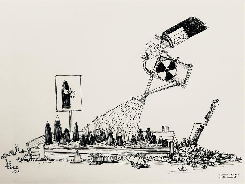 Karikatur Tusche 30 x 42