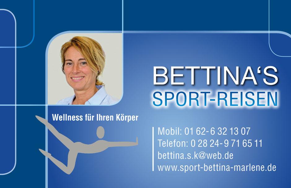 Bettina's Sport Reisen, Wellness für Ihren Körper.