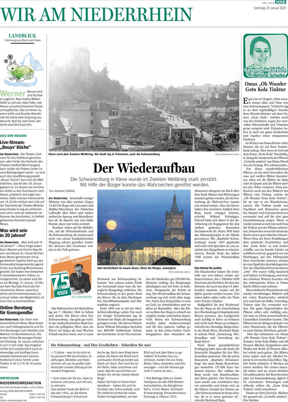 """Zeitungsartikel: """"Gotu Kola Tinktur"""" von Bettina Schulte-Kleipaß."""
