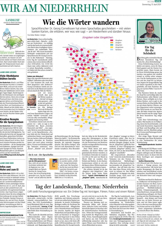 """Zeitungsartikel: """"Ein Tag für die Schönheit"""" von Bettina Schulte-Kleipaß."""