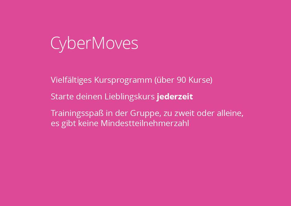 Im Fitnessstudio NOW-FIT in Raubling bei Rosenheim, Salzburg, Kufstein und Kiefersfelden. CyberMoves, Vielfältiges Kursprogramm (über 90 Kurse) Starte deinen Lieblingskurs jederzeit Trainingsspaß in der Gruppe, zu zweit oder alleine, keine Mindestteilnehm