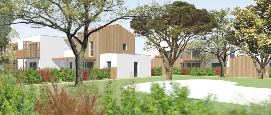 Vue extérieure du programme immobilier à Vaux sur Mer