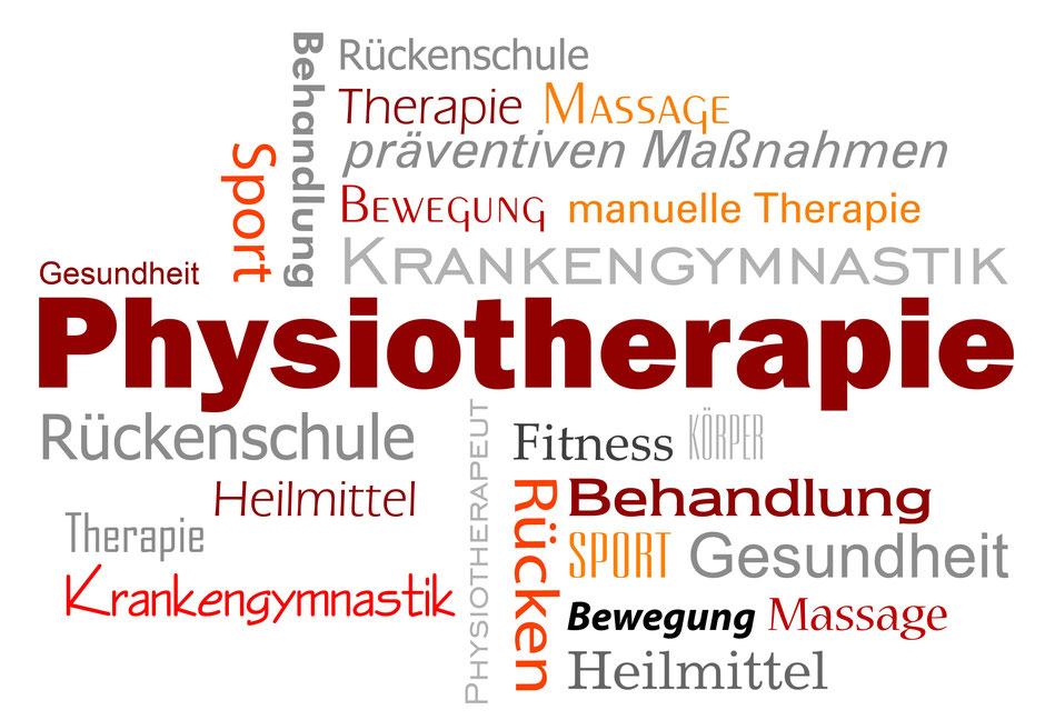 Begriff Physiotherapie und deren Synonyme