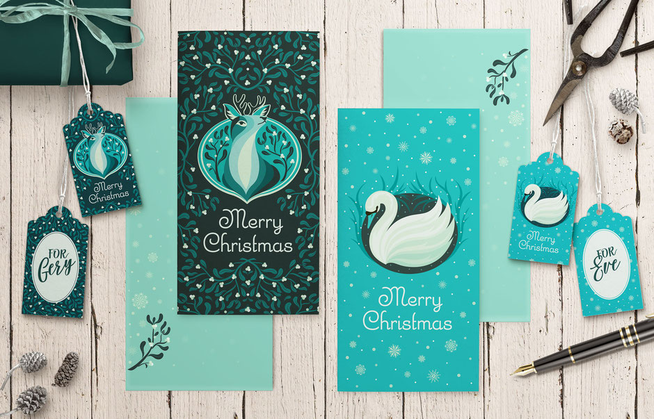 Illubelle - Julia Kerschbaumer - Christmas Stationery