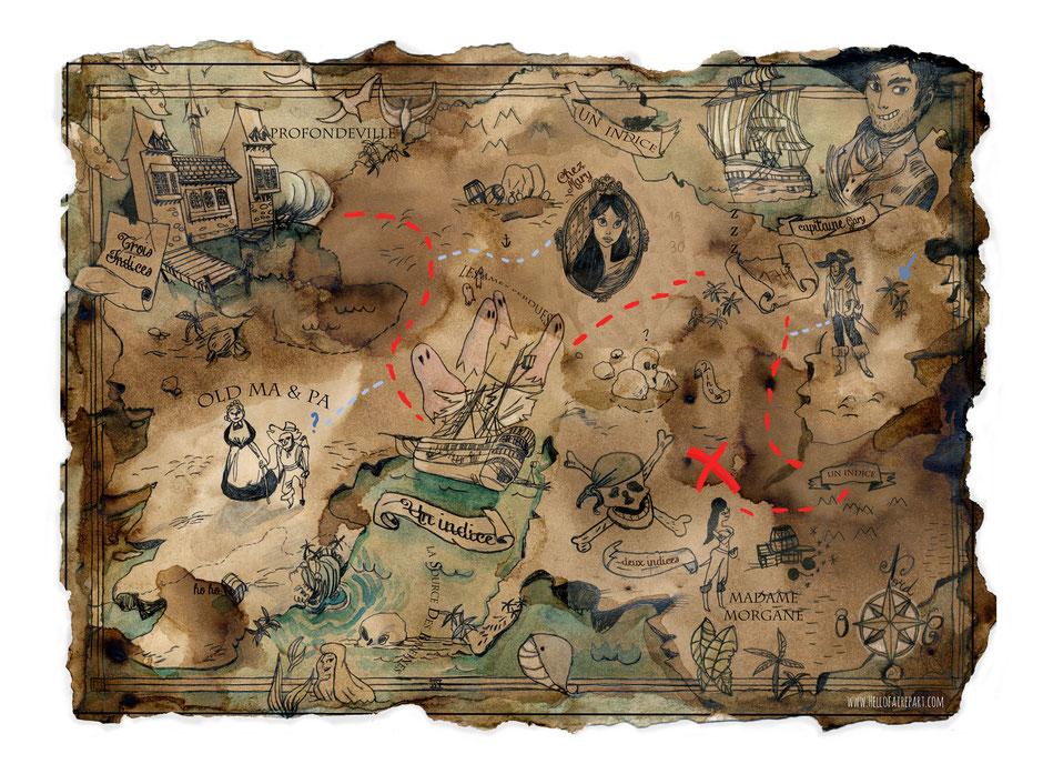 Carte au trésor à imprimer + comment faire