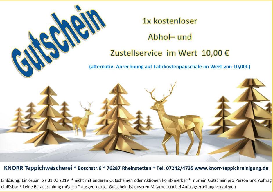 Teppichreinigung Landau Karlsruhe Rastatt Baden-Baden Gutschein Sonderangebot